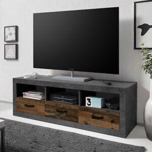 Lowboard Tv Board Unterschrank Tv Tisch Indiana Beton Grau Und