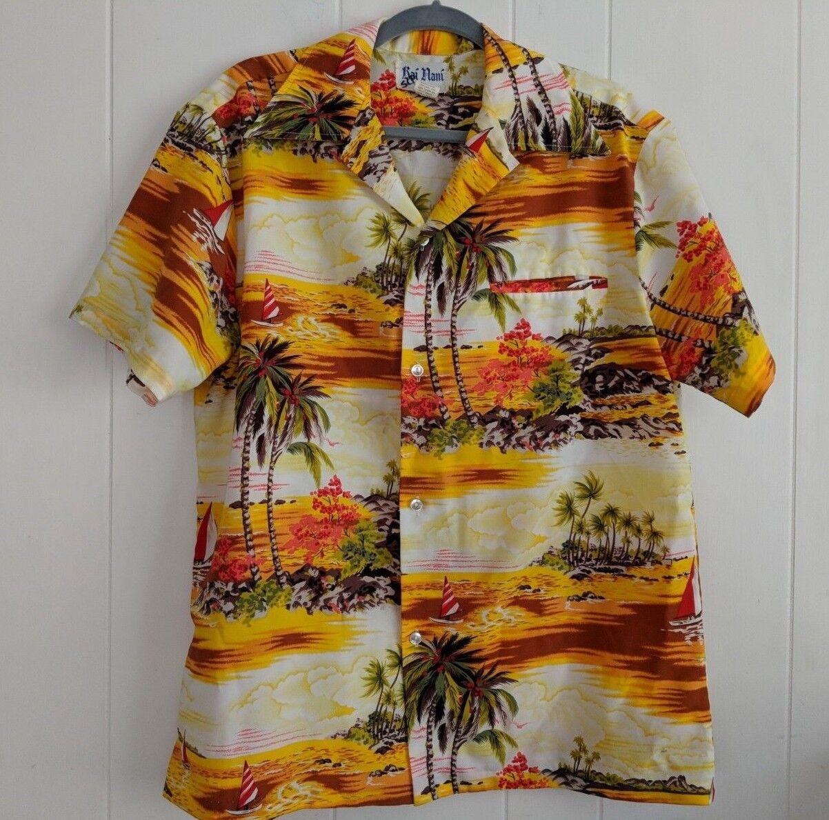 Vintage  Rai Nani XXL Hawaii Hawaiian Shirt Polyester Tropic
