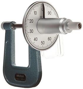 Mitutoyo Dial Read Deep Throat Sheet Metal Micrometer Thickness Gauge 0 25mm 4946368012032 Ebay
