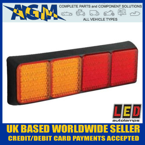 Led 80BAARRME Trailer Car Commercial Vehicle Quad Combination Rear Lamp 12//24v