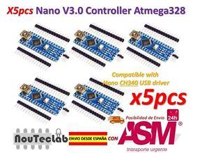 5pcs-Nano-V3-0-Controller-Board-Atmega328P-Compatible-Arduino-Nano-V3-CH340
