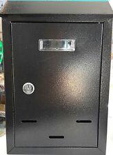 NERO Metallo Acciaio LETTERA POSTA CASELLA POSTALE cassetta delle lettere cassetta postale all' aperto Bloccabile
