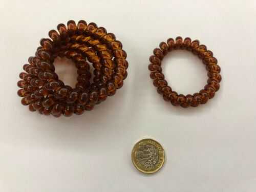 5 LARGE spiral coil hair bands phone core elastic band 6.2cm UK