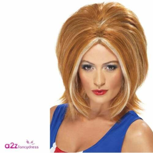 Womens Ginger Spice Union Jack 90s 90/'s 1990s Girl Power Fancy Dress Costume New