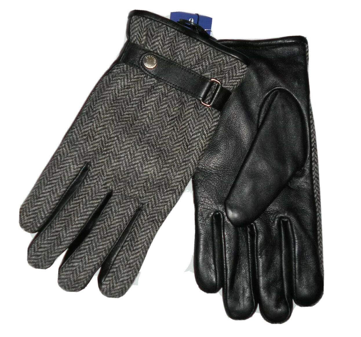 Sterling Abraham Moon men's Black Leather & wool Gloves size XL retail