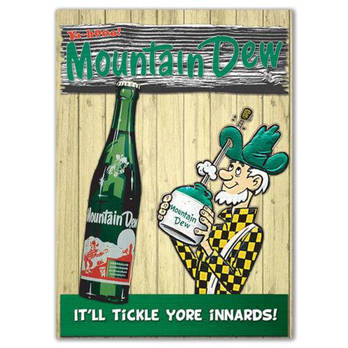Mountain Dew Nostalgic Tin Metal Sign 17x12 inch Retro Wall Decor