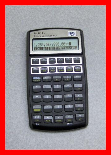 Financial Business  Calculator only Hewlett Packard HP17BII 17B II 17Bll