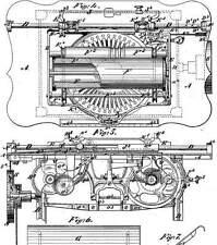 Alte, antike Schreibmaschine: Union,Densmore,Wyckoff..1868-1899