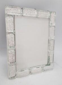 Crystal Block Design Large Photo Frame Takes One 5x7 Inch Photo Ebay