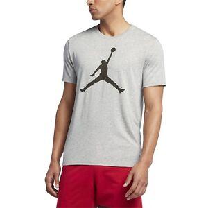 ee19c7385bc7 Nike Men Tshirts Air Jordan Iconic Jumpman Logo Tee Dark Grey ...