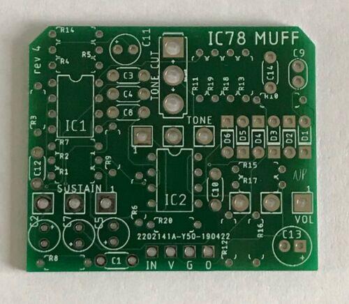 Big Muff 1978 IC version PCB  DIY guitar effects pedal New version w// Tone Cut