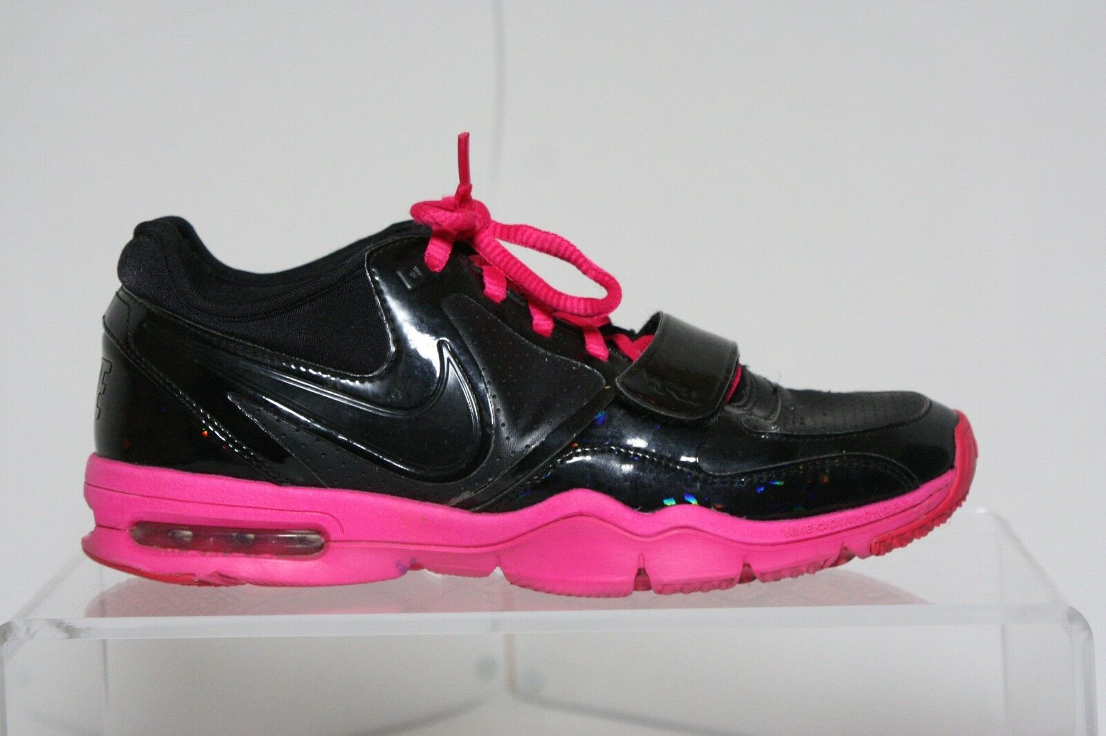 Nike Air Max Attack Trainer 1 10' Sneaker Hip Multi Pink Black Women 8 Athletic