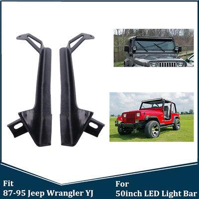 WPFC Toit Sup/érieur Support De Montage pour 87-95 Jeep Wrangler YJ 50Inch Droite LED Light Bar