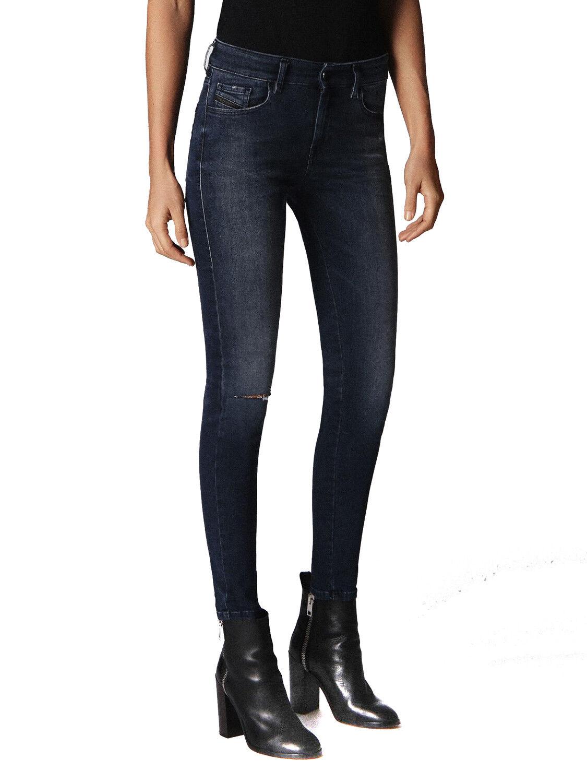 Diesel Slandy 084JP Elasticizzato Jeans Pantaloni women Diritto Sottile