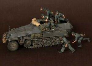 1-35-Scale-Resin-Figure-Model-Kit-WWII-German-Armoured-Troops-5-Figures