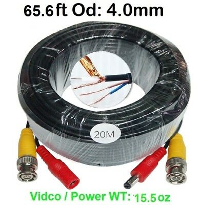 60ft Video and Power cable 3.8mm diameter thick use for BNC Cameras