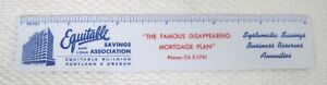 1957-Celluloid-Advertising-Ruler-Equitable-Savings-Bank-Portland-Oregon-T78