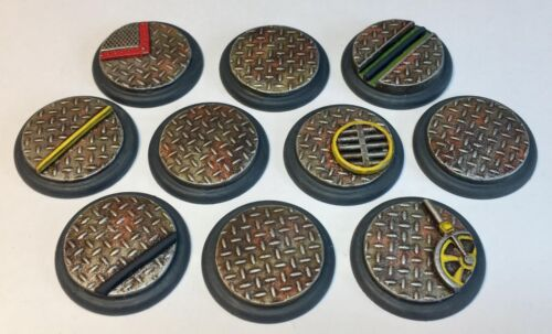 Lipped Resin Bases BMG//Malifaux//Warmachine//Infinity Industrial Zone
