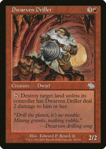 Dwarven Driller Judgment NM-M Red Uncommon MAGIC THE GATHERING MTG CARD ABUGames