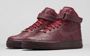 NIKE WOMENS AIR FORCE 1 HI FW QS SHOES SIZE 7.5 SHANGHAI BURGUNDY FASHION WEEK