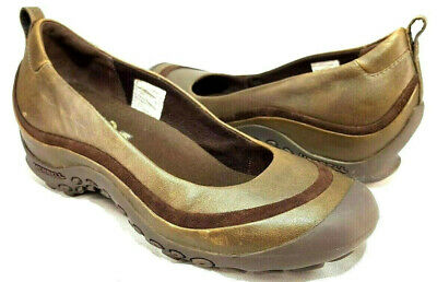 Rapture Merrell Plaza Ballet Brown Leather Slip On Women's Shoe Size 38 Eur 7.5m Us We Have Won Praise From Customers Women's Shoes