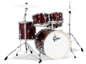 gretsch energy 5pc drum set w 20 bass drum ruby sparkle 647139486086 ebay. Black Bedroom Furniture Sets. Home Design Ideas