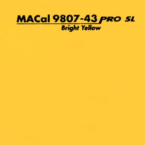 1 m 13,95 € //m Plotterfolie sonnengelb glänzend Selbstklebefolie 61,5 cm