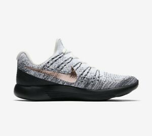 promo code 83f03 b61d7 Image is loading Nike-Lunarepic-Low-Flyknit-2-Explorer-White-Black-