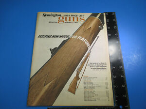 Vintage 1974 Remington Price List New Model 700 Features Model 541, 572 M6605