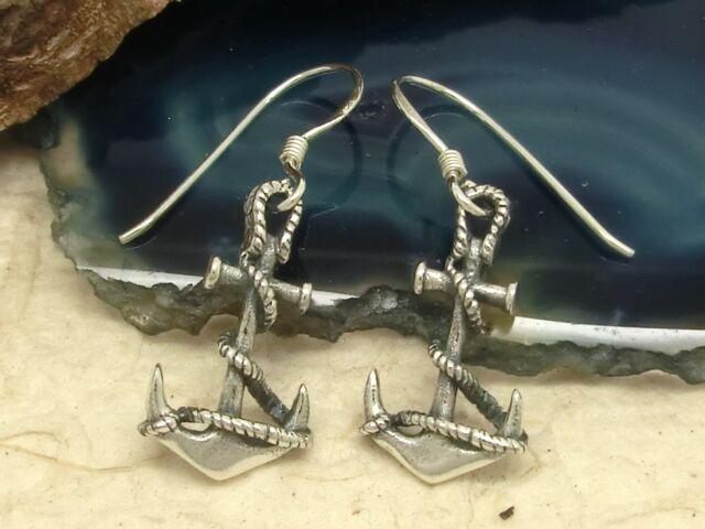 Anker Ohrringe 925er Silber Schiff Maritim Rockabilly Ohrschmuck
