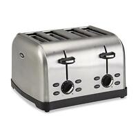 Oster 4-slice Stainless Steel Toaster Kitchen Appliance Cook Toast Bagel Waffles