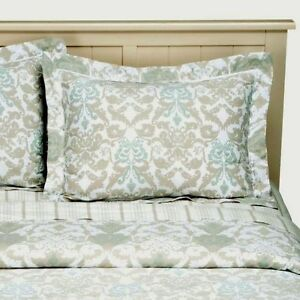 New Simply Shabby Chic Damask Scroll Reversible Comforter