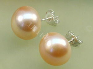 Image Is Loading 12 13 Mm South Sea Pink Pearl Earrings