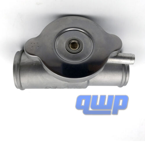 """New Upper Inline Radiator Hose Filler Adapter Neck With Cover 1 1//2/"""" to 1 1//4/"""""""