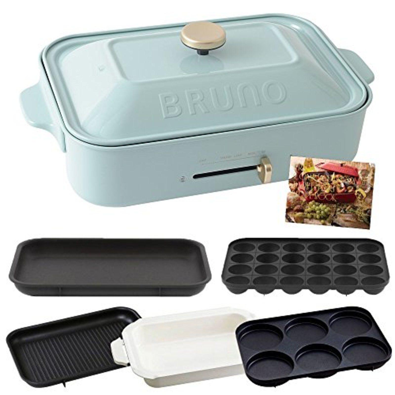 Bruno Compact Hot Plat & Takoyaki & Poêle & Grille & Multi Assiette Boe021 Bleu