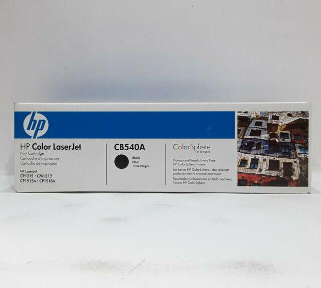 Black Hp laserjet print cartridge 125a CB540A