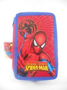 Spiderman astuccio completo triplo scomparto