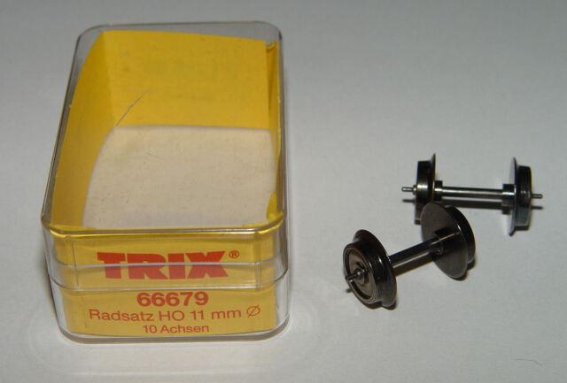 2 Stück  NEU 11mm Zapfenlager VPE AC Trix 66679 Radsatz Wechselstrom