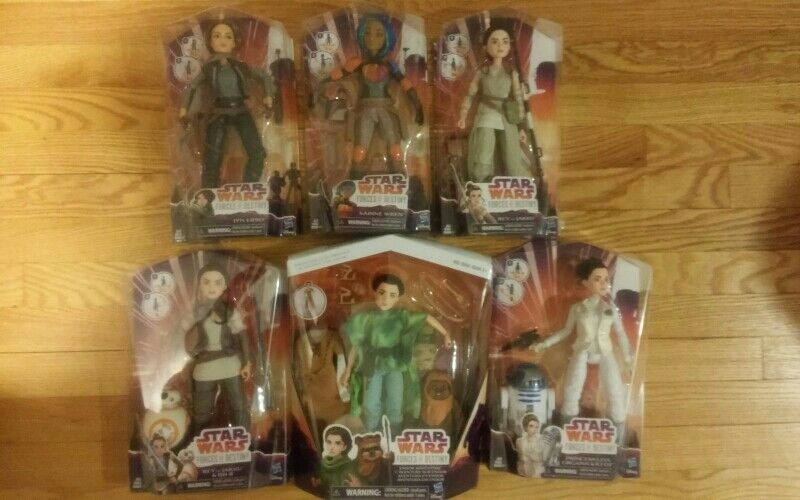 STAR WARS:Forces of Destiny dolls lot of 6 New in box