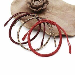 Handmade-Knots-Lucky-Rope-Bracelet-Men-Tibetan-Buddhist-Love-Adjustable-Charm