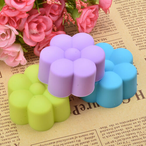 12pcs Soft Silicone Cake Muffin Chocolate Cupcake Bakeware Baking Cup Mold Fad