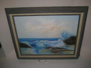 Vintage-Signed-Framed-Original-Oil-Painting-On-Canvas-G-McDonough-18-034-X-14-034