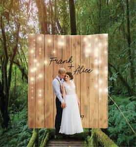 Personalized Wedding Backdrop Banner Custom Bridal Sign Reception Decoration 11 Ebay