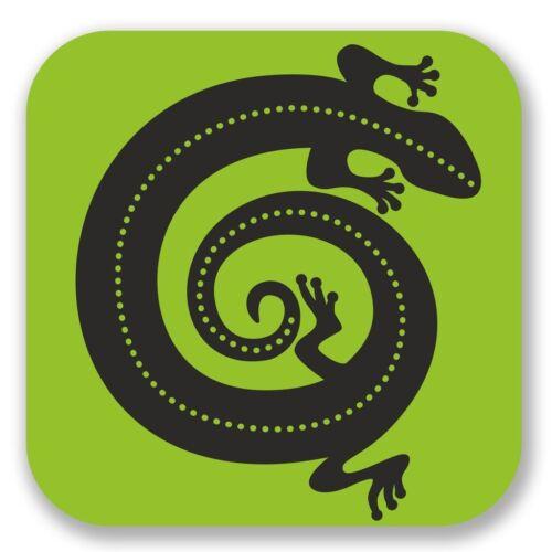 2 x Lizard Vinyl Sticker Laptop Travel Luggage #4316