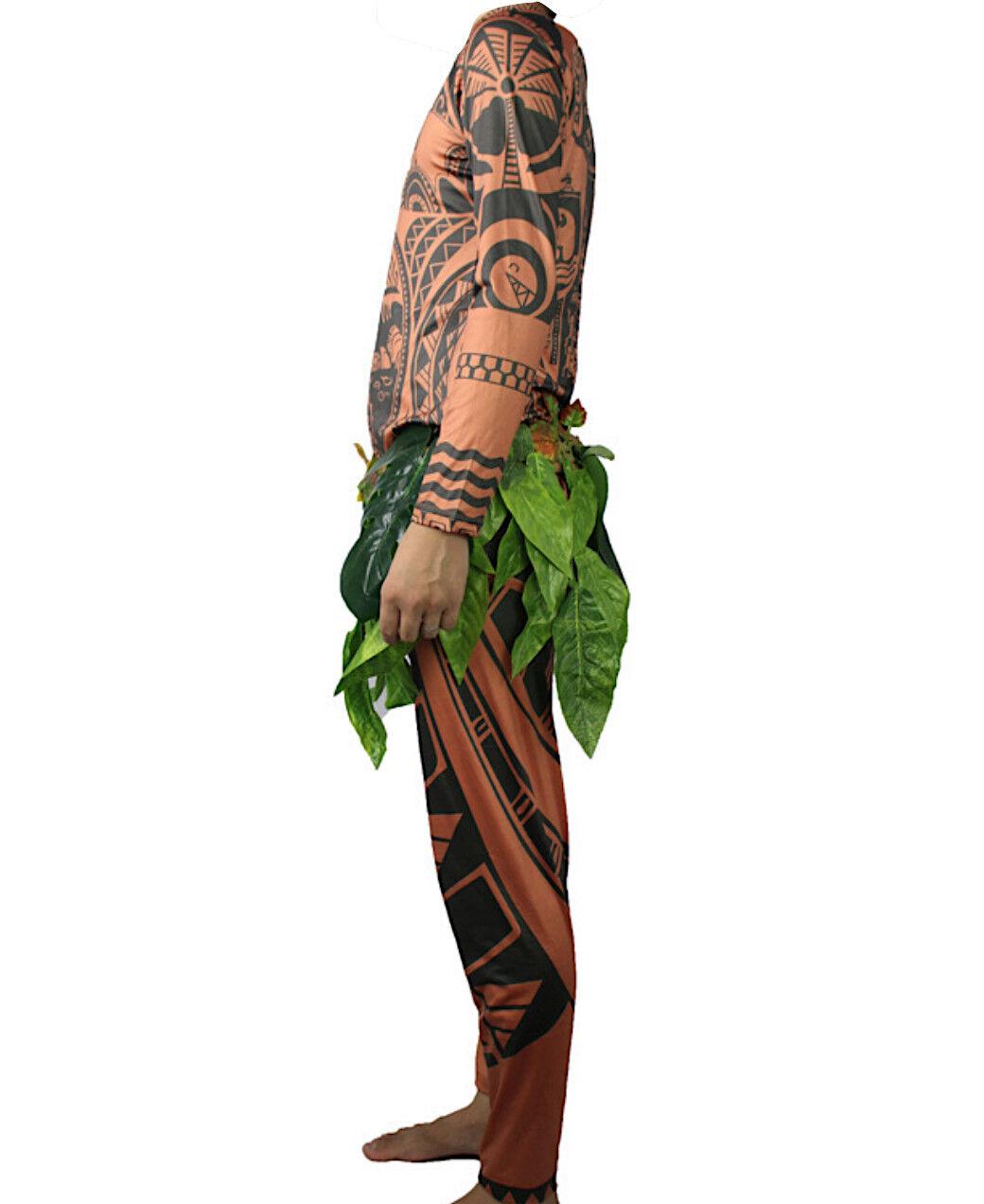 vestito maui oceania  Tipo Maui Vaiana Costume Carnevale Uomo Animazione Cosplay Maui ...