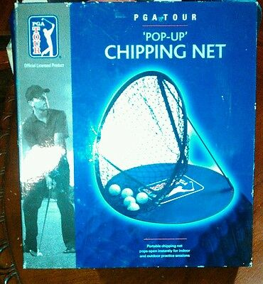Sporting Goods Golf Have An Inquiring Mind Pop-up Chipping Net Pga Tour Portable Indoor & Outdoor Pops Opens Pg5675bl Shrink-Proof