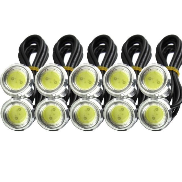 10 X 12V 9W LED DRL Eagle Eye Lights Car Fog Daytime Reverse Signal White