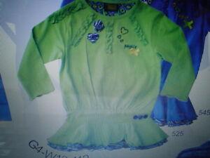 Winter-2013-WI-13-14-paglie-camisa-tunica-Azul-O-VERDE-TALLA-gr-104-140