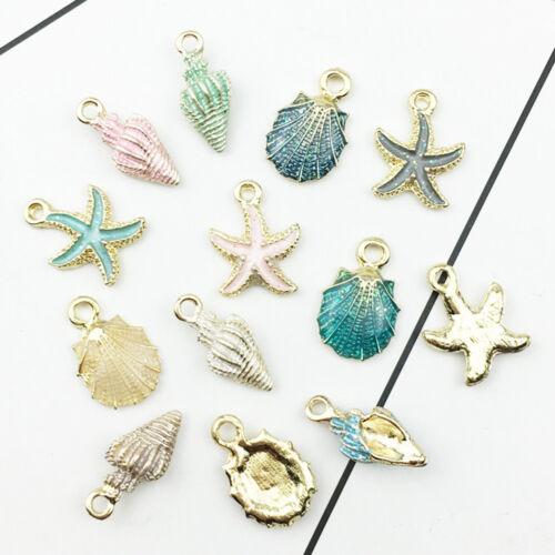 13Pcs Natural Ocean Sea Shell Conch Pendant DIY Handcraft Jewelry Making Accs
