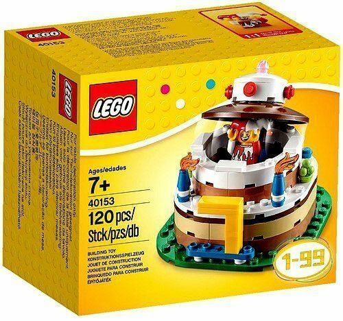 Lego Birthday Cake Topper Centerpiece With Jester Minifigure 120 Pcs 40153 Nuovo